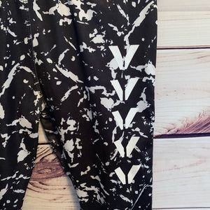 50bdd138c7e783 Primark Pants | Paint Splatter Black Workout Legging | Poshmark